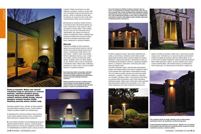 7b32974cd Osvetlenie exteriéru domu a záhrady